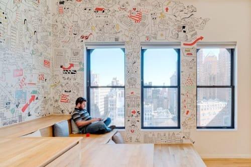 Murals by Greg Kletsel seen at Updater Inc., New York - Updater Mural