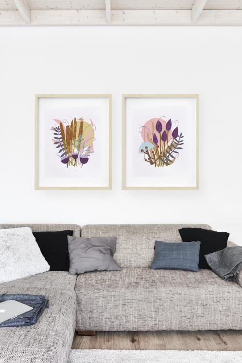 Paintings by Birdsong Prints - Scandinavian Art, Botanical Print, Set of 2