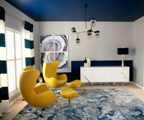 Interior Design by Nisha Tailor Interior Design seen at Private Residence, Creve Coeur - Formal living room design