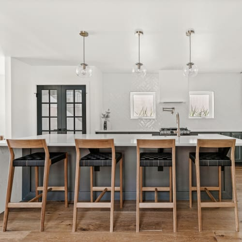 Chairs by Sjotime Industries seen at Private Residence, Denver - Esker Bar Stool