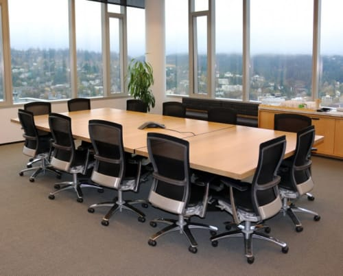Tables by The Joinery seen at Stoel Rives LLP, Portland - Conference Table
