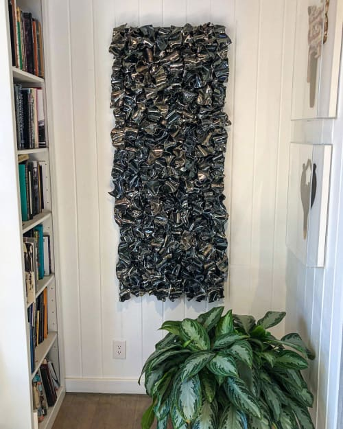 Art & Wall Decor by Ron Dier Design seen at Private Residence, Santa Ana - Ribbon Wall Sculpture