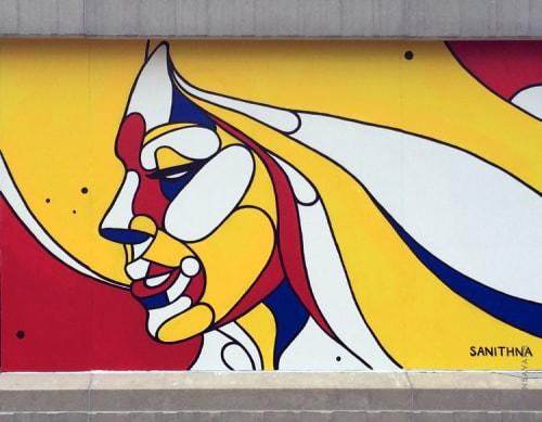 Street Murals by Sanithna Phansavanh at Colony Square, Atlanta - Mondorian