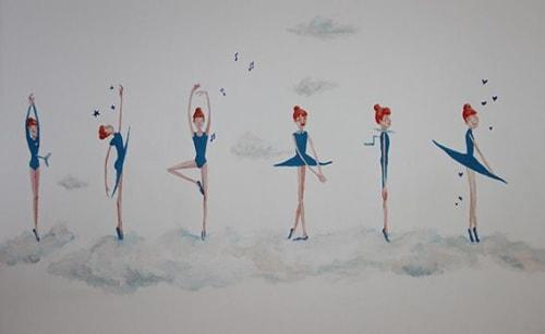 "Murals by LaRa Gombau seen at Private Residence, Alcanar - BALLARINA (""Dancer"")"