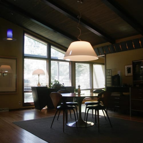 Pendants by CP Lighting seen at Private Residence, Fox Point - Big Shade Lamp