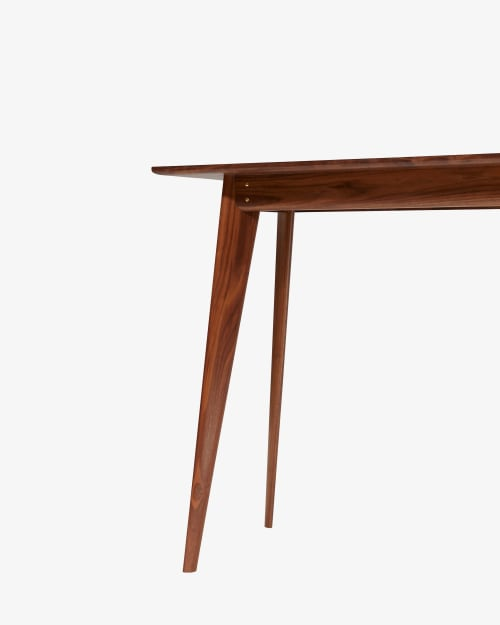 Tables by Tightrope seen at Private Residence, New York - Walnut Freya Console Table