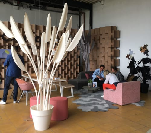 Felt Plant Collection | Art & Wall Decor by Driessens & van den Baar WANDSCHAPPEN | Cantor Circulair in Zoeterwoude