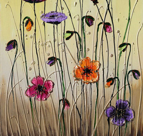 Paintings by Amanda Dagg seen at Private Residence, Yorkton - Flowers of Hope