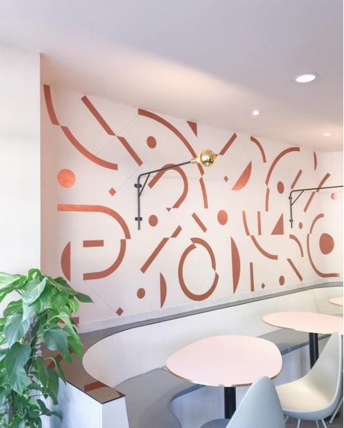 Paintings by Deams / Swoop & Melodie seen at 1 Grange Rd, Toorak - Grange Road Egg Shop - Interior Artwork Commission