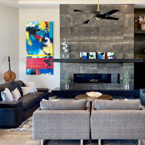 Paintings by Lynette Melnyk seen at Private Residence, Scottsdale - Rhythmic Structure of Our Dreams