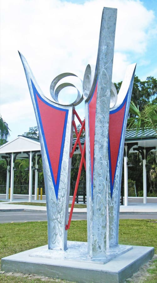 Public Sculptures by Gus Lina Fine Art seen at 119 E Euclid Ave, DeLand - Blooming