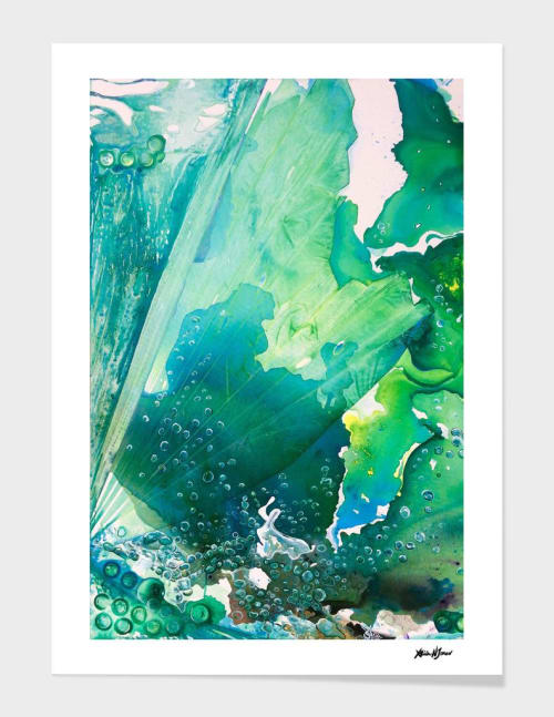 Paintings by ANoelleJay seen at Private Residence, Saint Petersburg - Environmental Considerations Deep Sea Water Bubbles