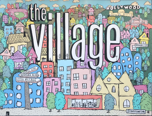 """Murals by """"Kasey Jones, Ink."""" seen at The Village, Los Angeles - The Village"""