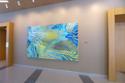 Paintings by Lorene Anderson seen at UC Davis Medical Center, Sacramento - Wavelets