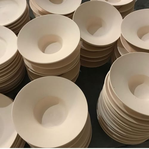 Ceramic Plates by Patrick Johnston Ceramics seen at Venice Beach, Los Angeles - Patrick Johnston Ceramics