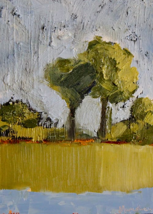 Paintings by Michelle Andres seen at Private Residence, Boulder - The Affair - Small painting of two trees
