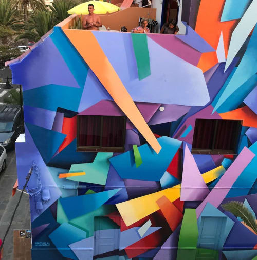 Murals by sabotajealmontaje seen at Apartamentos Sansofe, Valle Gran Rey - Wall Mural
