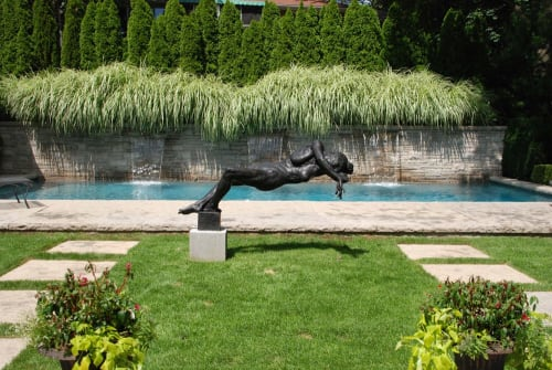 Public Sculptures by Gary Weisman seen at Private Residence, Toronto - unAsking whispers