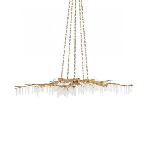 Chandeliers by Alan Mizrahi Lighting Design seen at Private Residence, Al Rideem - DV5089 FOREST LIGHT