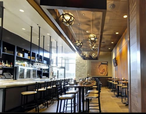 Chandeliers by Stil Novo Design seen at Cooper's Hawk Winery & Restaurant, Town and Country - Orbits