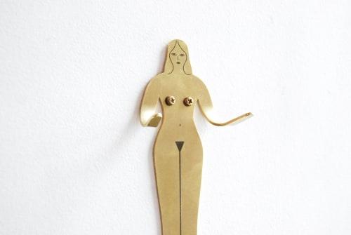 Art & Wall Decor by Kaye Blegvad seen at Brooklyn, Brooklyn - Female Support System Brass Hook