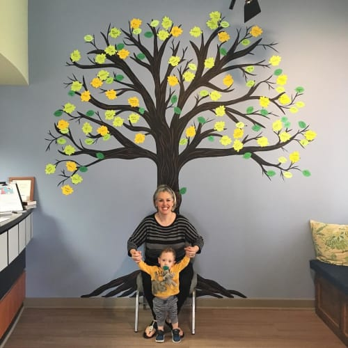 Murals by Fresh Prints of Belaire seen at Advanced Health & Rehab Center, Houston - Tree of Life