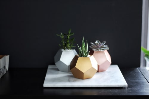"""Plants & Flowers by Mind The Minimal seen at """"Private Residence - Vancouver, BC"""", Vancouver - Dode Concrete Planter"""