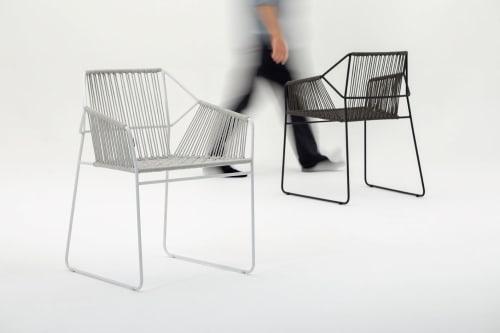 Chairs by Mark Gabbertas seen at Hotel im Wasserturm, Köln - Sandur lounge chairs