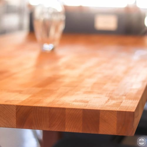 Tables by HENNEYDESIGNS seen at Private Residence - Playa del Ray, Los Angeles - Butcher Block Dining Table
