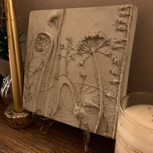 Wall Hangings by Rachel Dein seen at Private Residence, Brentwood - Botanical plaster cast