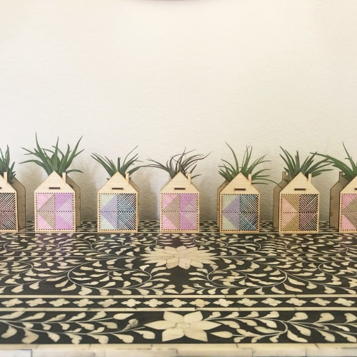 Vases & Vessels by Nosheen iqbal seen at Creator's Studio, Dallas - Mini House Airplant Holder