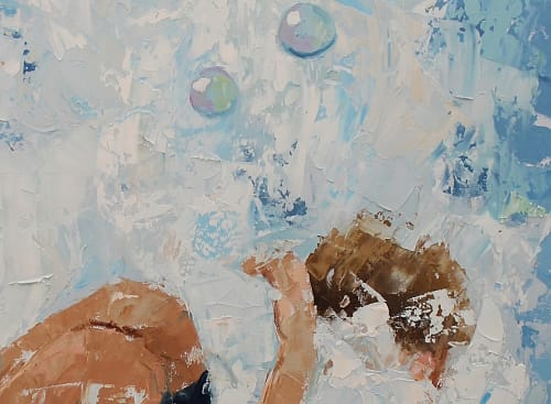 Paintings by EILEEN CORSE seen at Cape Cod - Forever Fun 48x36