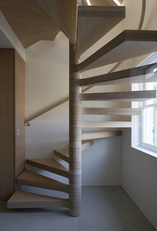 Furniture by Joe Mellows Furniture Makers seen at Private Residence, London - Chelsea Spiral Stair