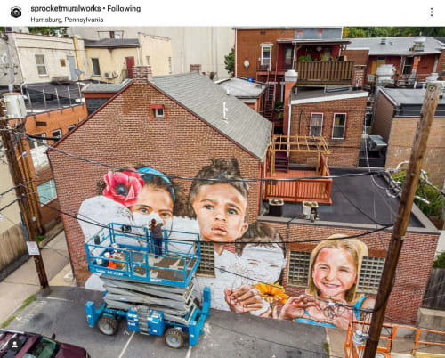 Street Murals by Anat Ronen seen at Harrisburg, Harrisburg - To Harrisburg With Love