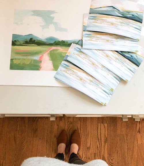 Paintings by Jillian Darville Art seen at Private Residence, Nashville - Landscape Painting by Jillian Darville