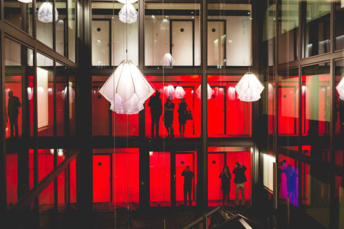 Art Curation by DRIFT seen at citizenM Tower of London Hotel, London - Semblance