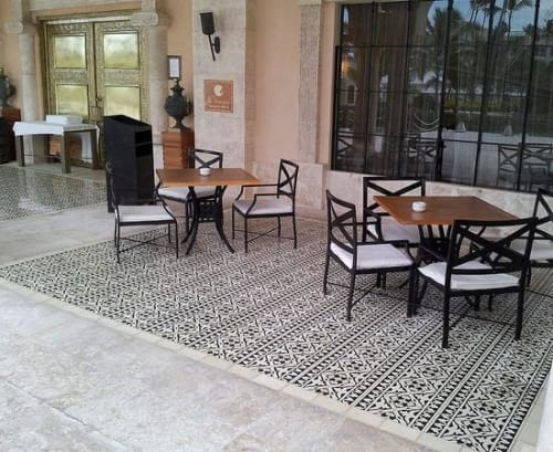 Tiles by Avente Tile seen at La Tentazione, Norrmalm - Classic Cement Tiles