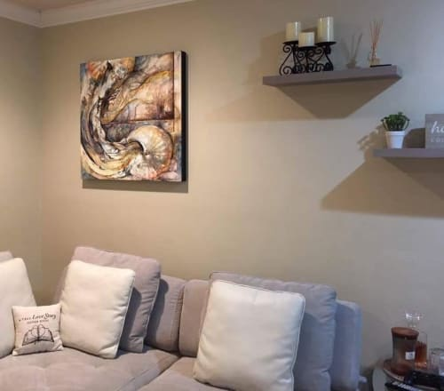Paintings by Kim Howes Zabbia seen at Private Residence, Hammond - Embrace