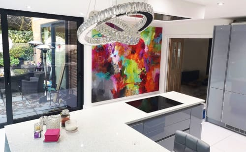 Paintings by Carolina Alotus seen at Private Residence - Happy Clouds