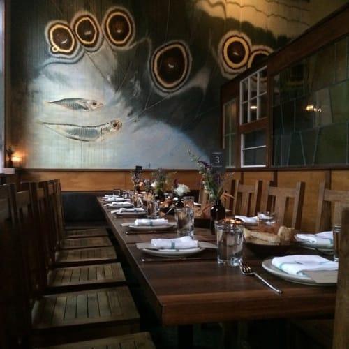 Interior Design by RareField Design/Build seen at 2401 Harrison St, San Francisco - Flour + Water Restaurant