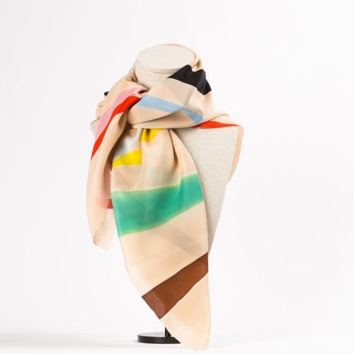 "Apparel & Accessories by Natalia Lumbreras seen at Madrid, Madrid - ""Natus"" carre scarf on silk"