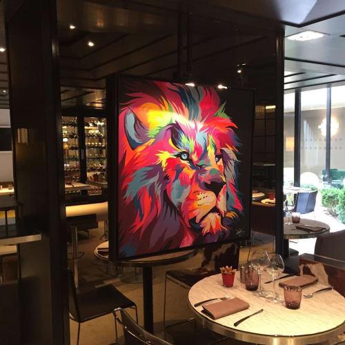 Paintings by Dave Baranes seen at Hôtel Pullman Paris Montparnasse - Ouverture Printemps 2020, Paris - Cecile