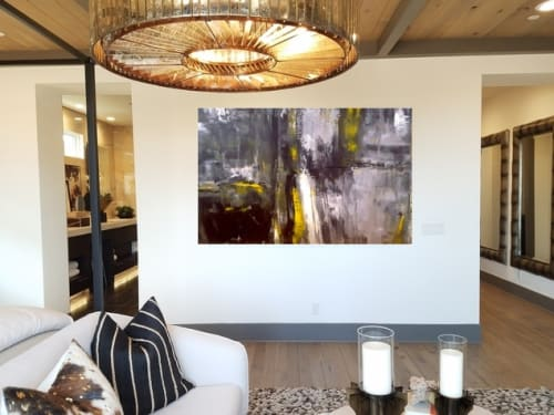 Paintings by Tanya U Lozano Abstract Art seen at Private Residence, Newport Beach - Saturday Night