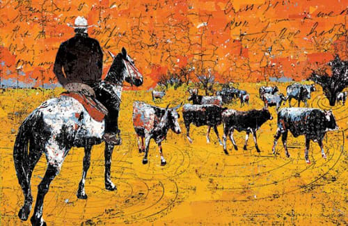Murals by Daryl Thetford seen at Private Residence, Park City - Contemporary Cowboy