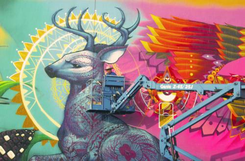 Murals by Frase Honghikuri seen at Guadalajara, Guadalajara - Frase SF honghikuri.