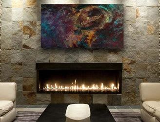 Paintings by Barfoot Fine Art seen at Private Residence, Riyadh - Vortex