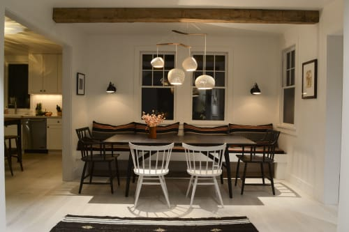 Chandeliers by lightexture seen at Private Residence - Claylight Boomerang XL chandelier