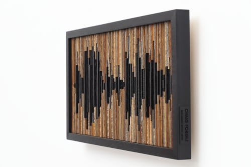 """Wall Hangings by Craig Forget seen at Private Residence, New York - Soundwave """"You make it easier when life gets hard"""""""