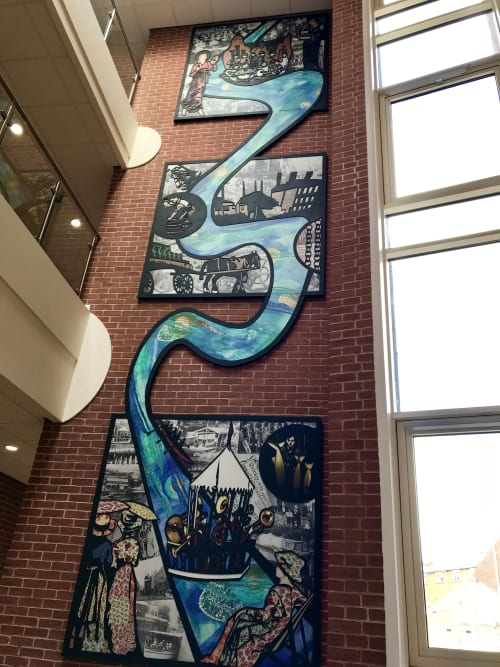Public Mosaics by Claire Cotterill seen at Worcestershire - Celebrating Stourport