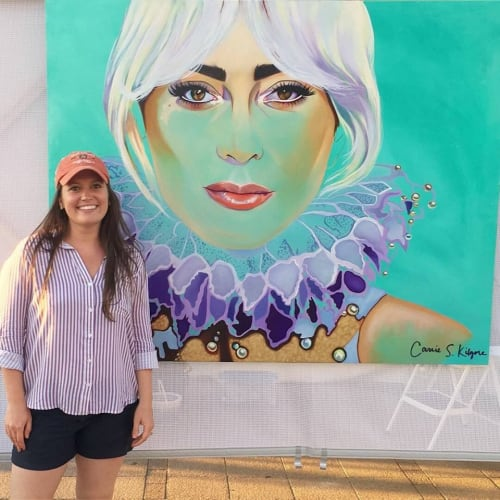 Paintings by Carrie Kilgore Art seen at St. Petersburg, Saint Petersburg - Painting of Lady Gaga by Carrie Kilgore